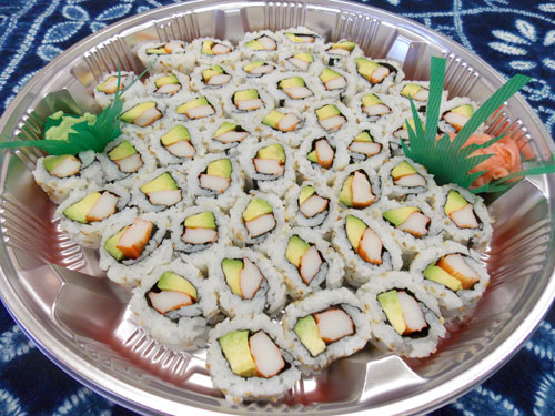 cali roll party tray